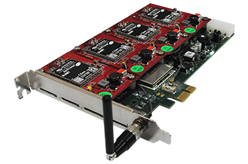 GSM Card (1,2 & 4 Channels) PCI & PCIe